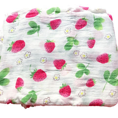 Cotton & Bamboo Baby Muslin swaddle(Strawberry) No.21