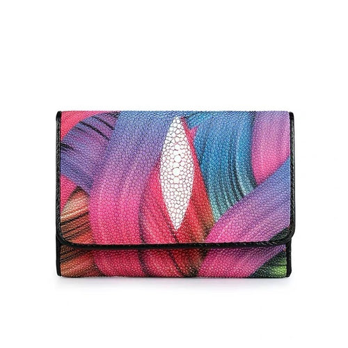 Genuine Stingray Skin Wallet(Colourful)