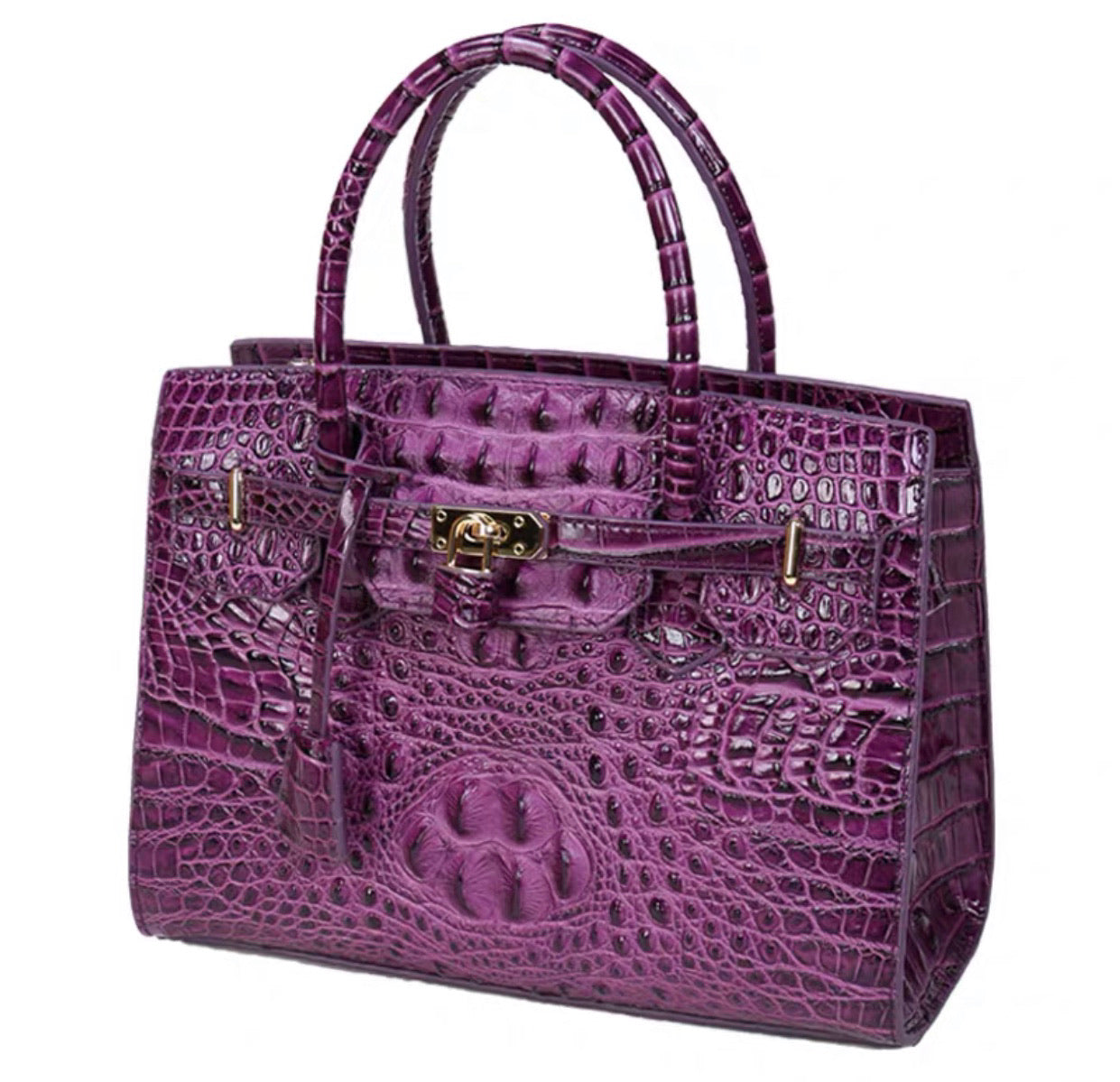 Crocodile Leather Bag(Purple)
