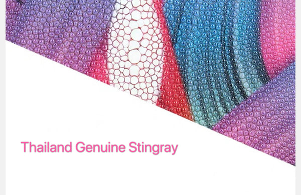 Genuine Stingray Skin Wallet(Colourful yellow)