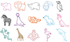 Ministempel Zootiere