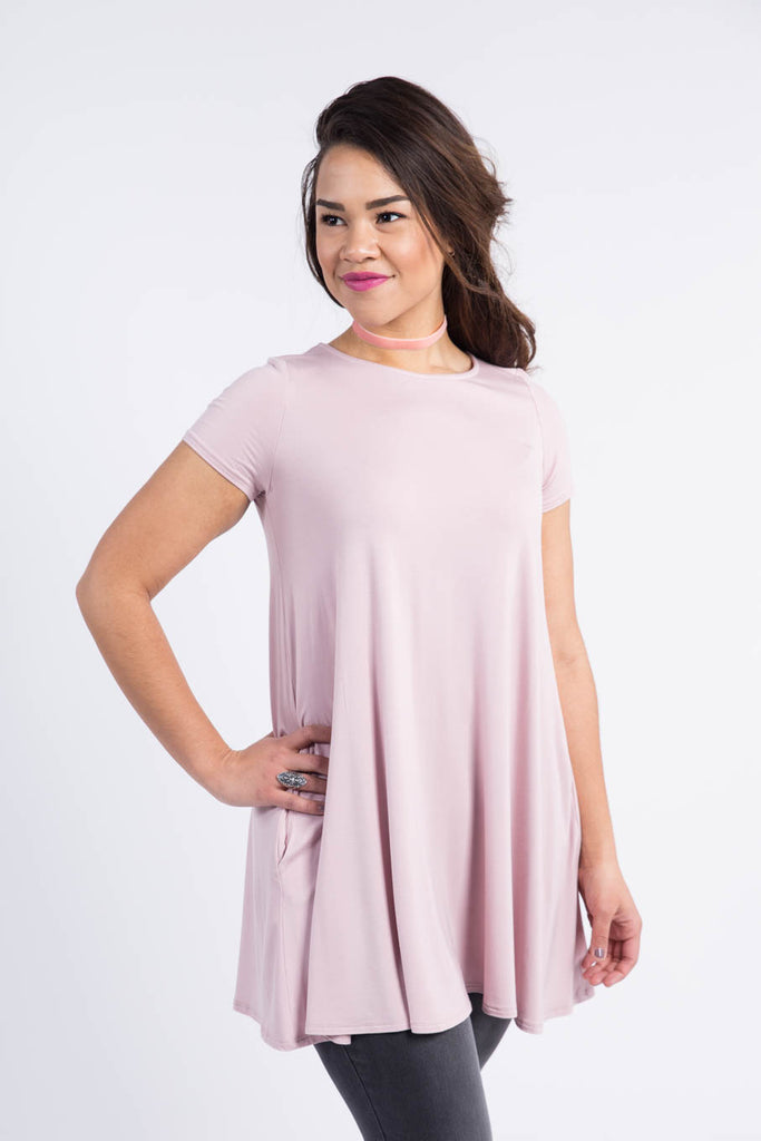 Swing Tunic in Pale Mauve