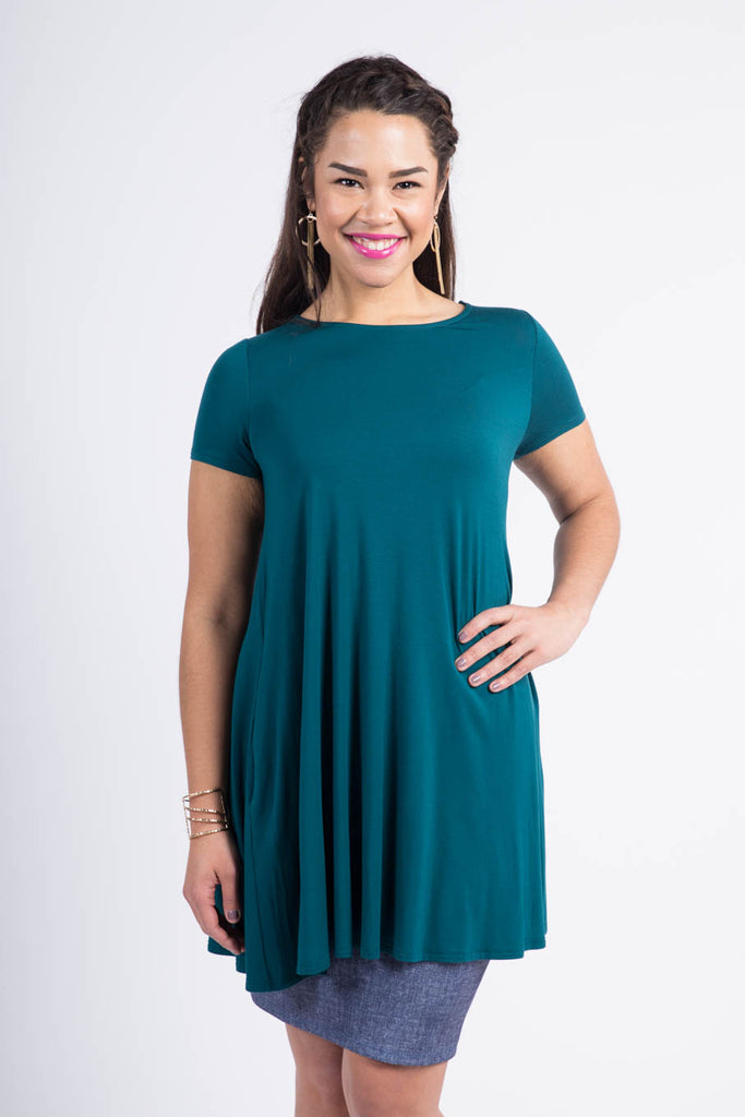 Swing Tunic in Forest Green