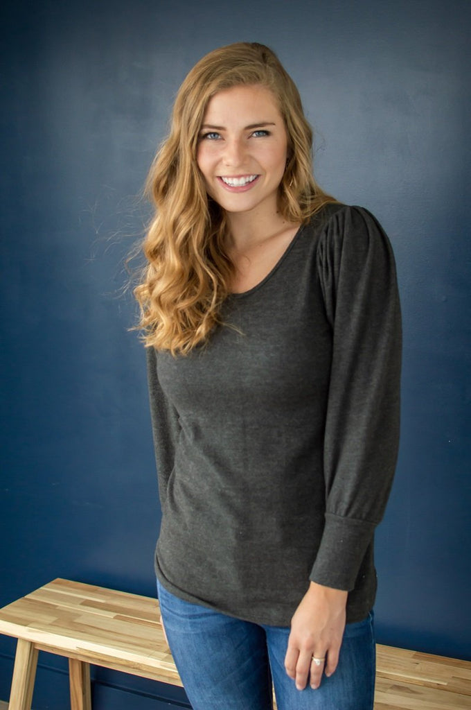 Date Night Top | Charcoal