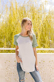 Dyed & Striped Raglan Top