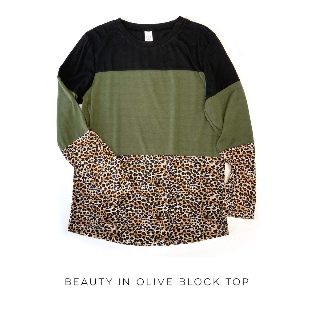 Beauty in Olive Block Top