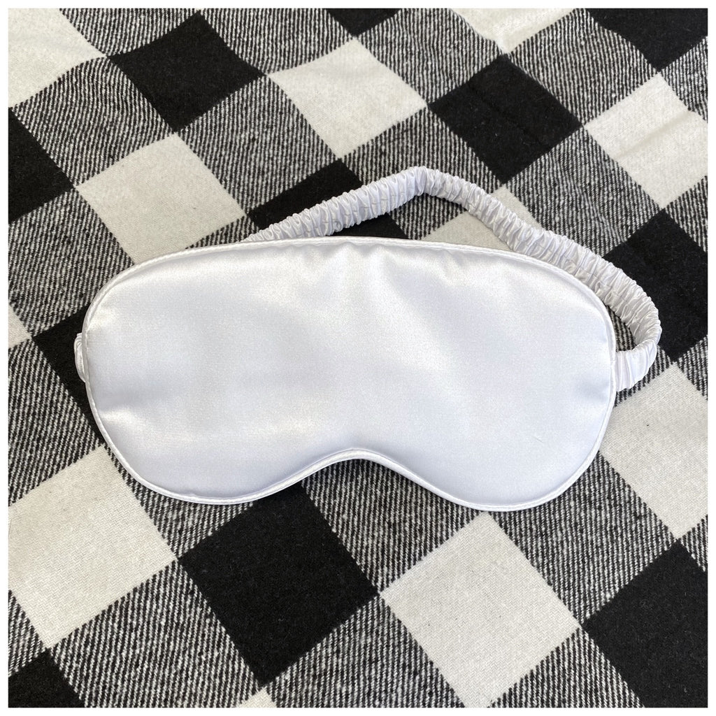 Sweet Dreams Eye Mask in White