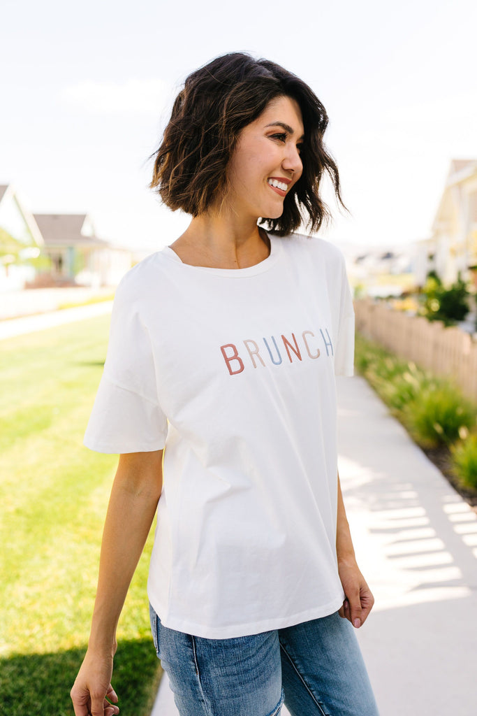 Let's Do Brunch Embroidered Tee