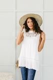 Victoria Lace Mock Neck Top In Ivory - 6/2/2020