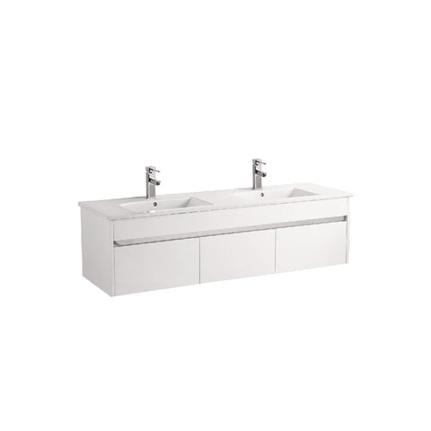 Pc 1200 wall hung vanity with chrome trim