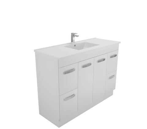 1200 Quadra Kickboard vanity ceramic top