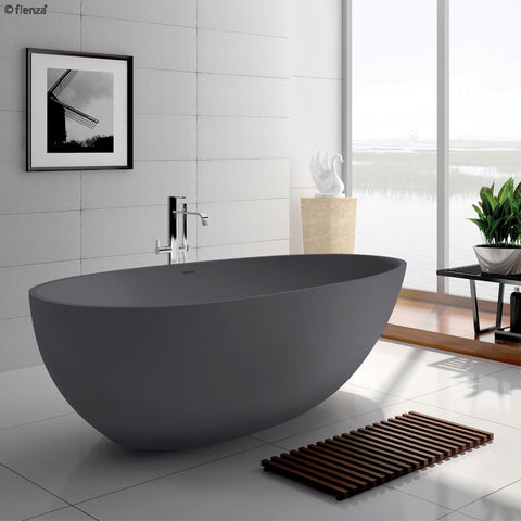 Cast stone solid surface bath