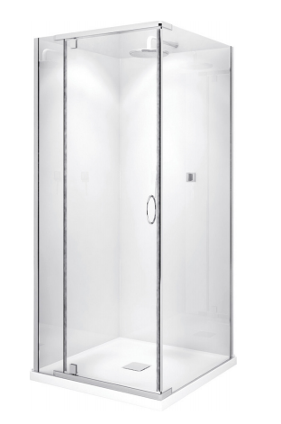 Cascade Semi frameless shower Square 900x900x2000