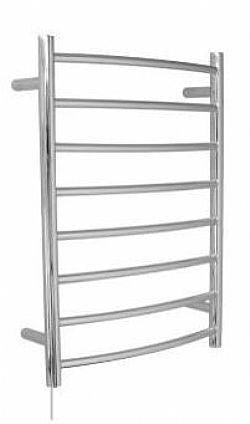 8 Bar curved heated towel rail