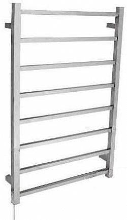8 Bar square heated towel rail