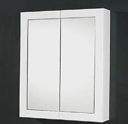 600mm framed white gloss mirror shaver