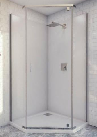 Decina Cascade semi frameless shower screen angled 1000x1000x2000