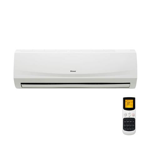 Rinnai 2.5kw reverse cycle inverter split system air conditioner