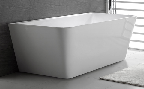 Decina Aria Back to wall freestanding bath