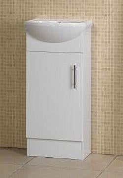 410 Lina space saver Kickboard vanity semi recessed ceramic top