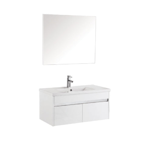 Pc900mm wall hung vanity with chrome trim