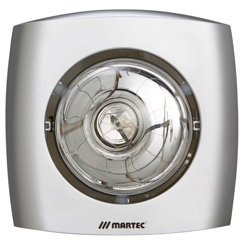 Martec Contour 1 single heat heater silver