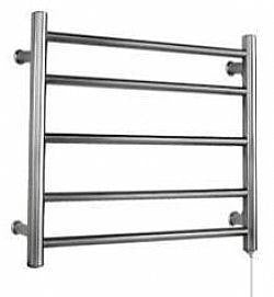 5 Bar round heated towel rail