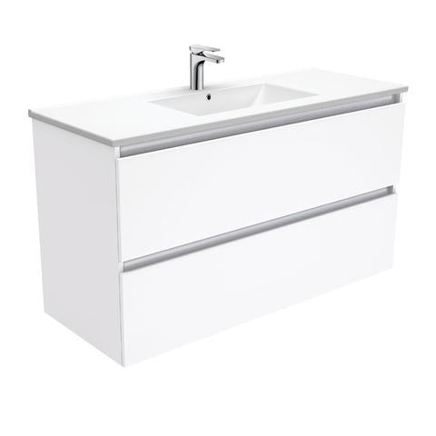 1200 Wallhung all draw vanity slimline ceramic top