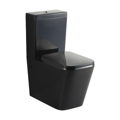 Black square toilet