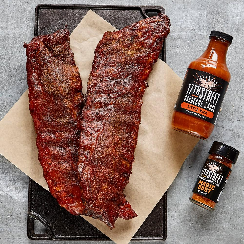 2 slabs Apple City Grand World Champion Baby Back Ribs + BBQ Sauce & Magic Dust