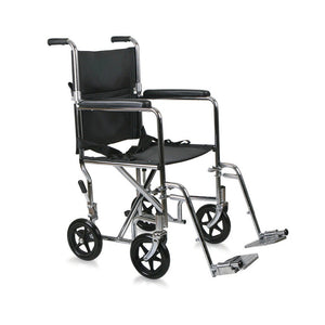 "Meddyplus Transport Wheelchair Lightweight 8"" wheels"
