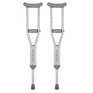 "Underarm Crutch, Adult Crutches, Aluminum, Adjustable User Height 5'2"" to 5'10"""