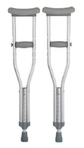 "Child Underarm Crutch, Child Crutches, Aluminum, Adjustable Height 4'0"" to 4'6"""