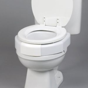 Bariatric Raised Toilet Seat, 3in H, 600 lbs Capacity Bathroom Aid !