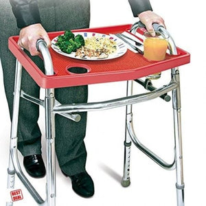 Medical Safety Walker Tray Non-Slip Grip Mat Food Cup Holders Senior Nursery