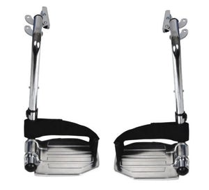 Drive Medical Chrome Swing Away Footrests w/Aluminum Footplates