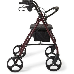 "Rollator 8"" Casters Rolling Walker Senior Walker with Padded Seat"