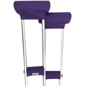 Crutcheze Purple Heather Underarm Crutch Pad and Hand Grip Covers with