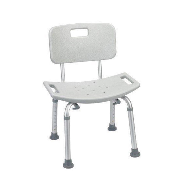 "Bathroom Safety Shower Tub Bench Chair with Back, Grey ""Open Box Special"""