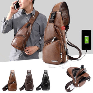 Mens Casual Bag Fashion Outdoor Travel Day Pack PU Leather - MCSURES