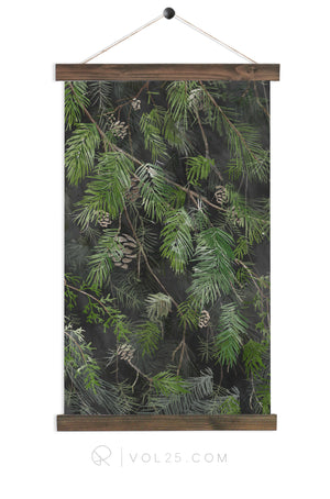 Black Pine Canvas Wall Hanging | More options QZ110
