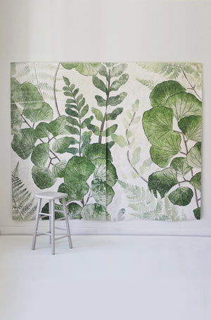 Botanic Mural |  2 Canvas Hand Distressed Tapestries