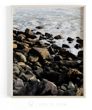 Breakwater | Textured Cotton Canvas Art Print, 9 sizes | VOL25