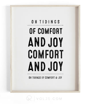 Comfort and Joy | Textured Cotton Canvas Art Print, several sizes | VOL25