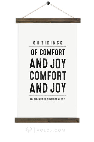 Comfort and Joy |  unique wall hanging art | more options