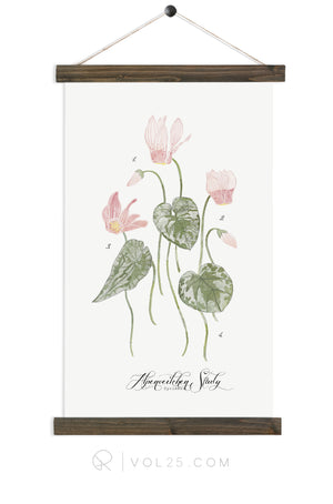 Cyclamen Study | Unique wall hanging | More options