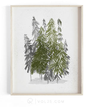 Evergreen | Textured Cotton Canvas Art Print, several sizes | VOL25