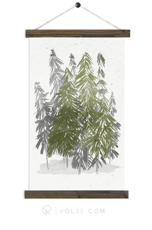 Evergreen |  unique wall hanging art | more options