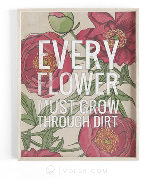 Every Flower | Textured Cotton Canvas Art Print | VOL25