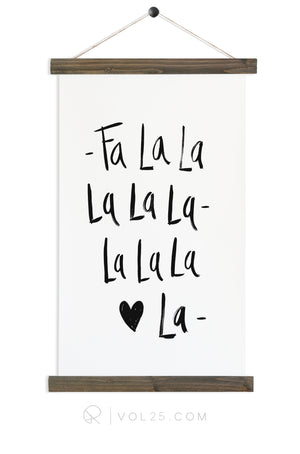 Fa La La La |  Seasonal Art Decor | Canvas Wall Hanging | More options QZ108